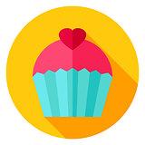 Sweet Cupcake Circle Icon