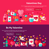 Happy Valentines Day Website Banners