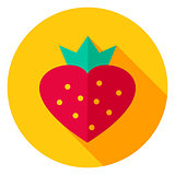 Sweet Strawberry Circle Icon