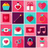 Valentine Day Colorful Icons