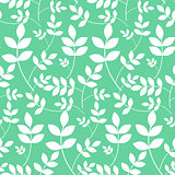 Leaves branches floral seamless pattern.