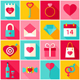 Valentine Day Love Colorful Icons