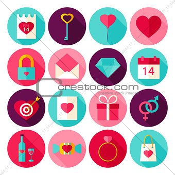 Valentine Day Love Flat Icons