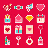 Valentine Day Love Stickers