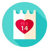 Valentine Day Paper Circle Icon