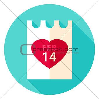 Valentine Day Paper Circle Icon