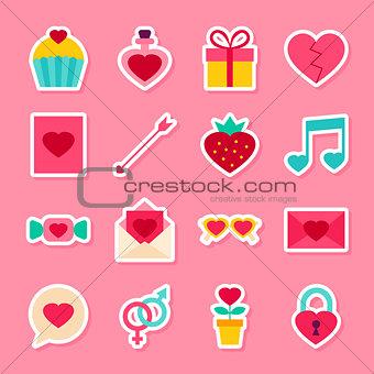 Valentine Day Stickers