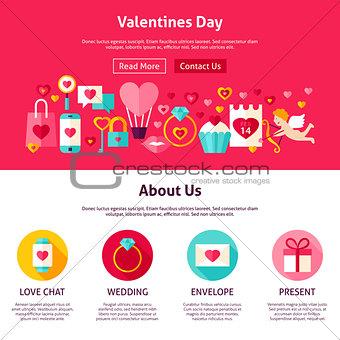 Valentine Day Web Design
