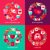 Valentines Day Concepts Set