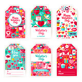 Valentines Day Gift Tag Labels