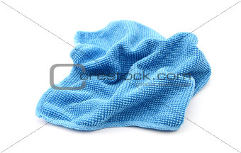 Blue microfibre screen cleaning cloth