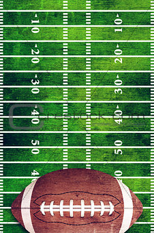 American Football and Field Grunge Background