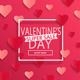 Valentines day super sale background.