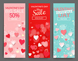 Sale header for Happy Valentines Day celebration.
