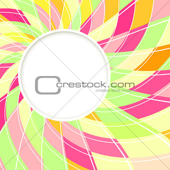 Abstract white round shape. Candy background