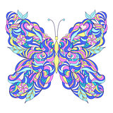Motley abstract butterfly