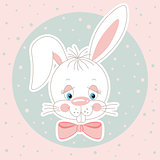 Cute bunny face background