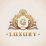 Calligraphic flourishes Luxury Logo template elegant ornament