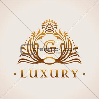 Calligraphic flourishes Luxury Logo template elegant ornament