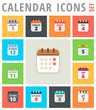 Calendar Icons vector illustration set