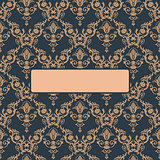 Seamless ornament vintage background vector Baroque