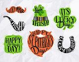 St Patrick symbols color