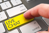 Live Chat - Modern Laptop Keyboard Concept. 3D.