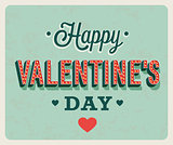 Happy Valentines Day vintage greeting card.