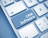 CRM Software - Message on the  Keyboard Key. 3D.