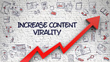 Increase Content Virality Drawn on Brick Wall.