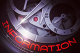 Information on Men Watch Mechanism. 3D.