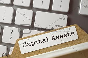 Folder Register with Capital Assets. 3D.