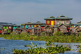 floating houses Inle Lake Shan state Myanmar