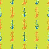 Hookah Silhouette Seamless Pattern