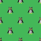 Cartoon Owl Seamless Pattern