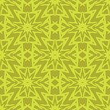 Yellow Ornamental Seamless Line Pattern