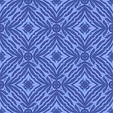Blue Endless Texture. Oriental Geometric Ornament