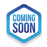 Coming Soon blue ribbon vector