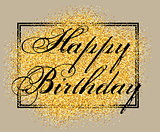 Vector template for greeting card happy birthday with inscription