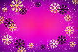 Christmas background. Abstract vector illustration with snowflakes. Easy editable modern template.