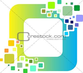 cube digital virtual pixel logo