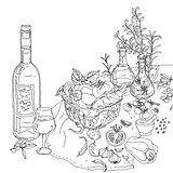 italian cuisine coloring book