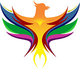 colorful of eagle logo