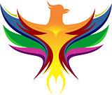 colorful of eagle logo