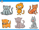 cat cartoon characters set