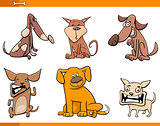 dog cartoon characters set