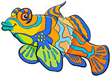 mandarin fish cartoon character