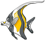 moorish idol fish character