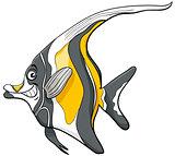 moorish idol fish character