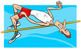 high jump sportsman cartoon
